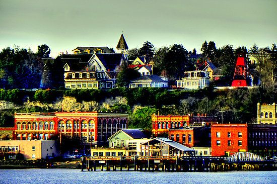 Port Townsend. Beautiful Victorian port shipping town in Washington on the straight of Juan De Fuca and the Puget Sound. #scenicwa