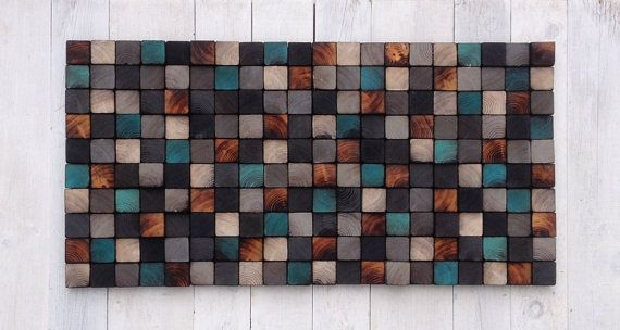 Wall Art  Reclaimed Wood Sculpture by WallWooden on Etsy