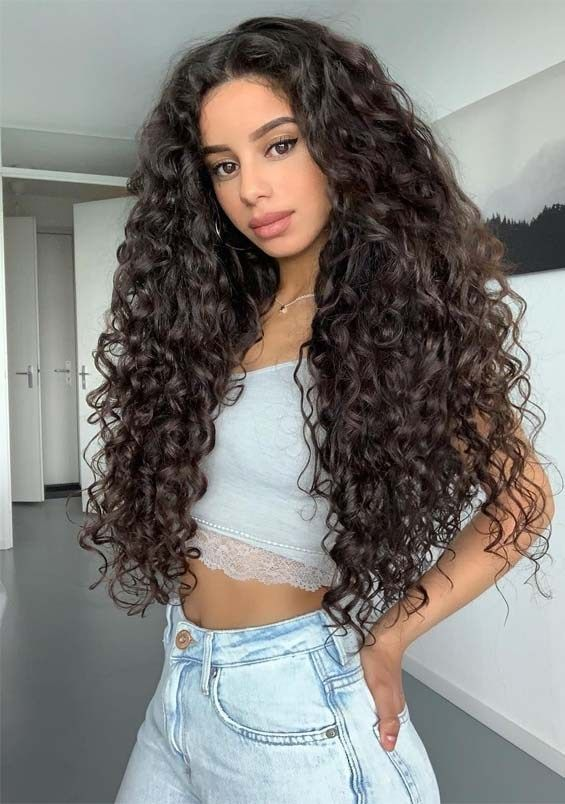 fantastic long curly hairstyles