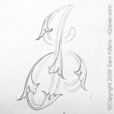 Sam Alfano's Tips & Tricks for Hand Engravers - Drawing Leaf Script