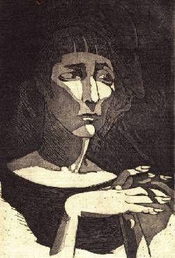 Двойной портрет: Анна Ахматова и Николай Гумилев. Т. М. Скворикова. 1926 г.