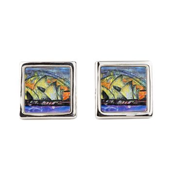 Hot Sydney Night Square Cufflinks fabulously unique artworks to brighten up that suit. Featuring The Sydney Opera House and The Sydney Harbour Bridge.... one of the best views in the world 👌😎