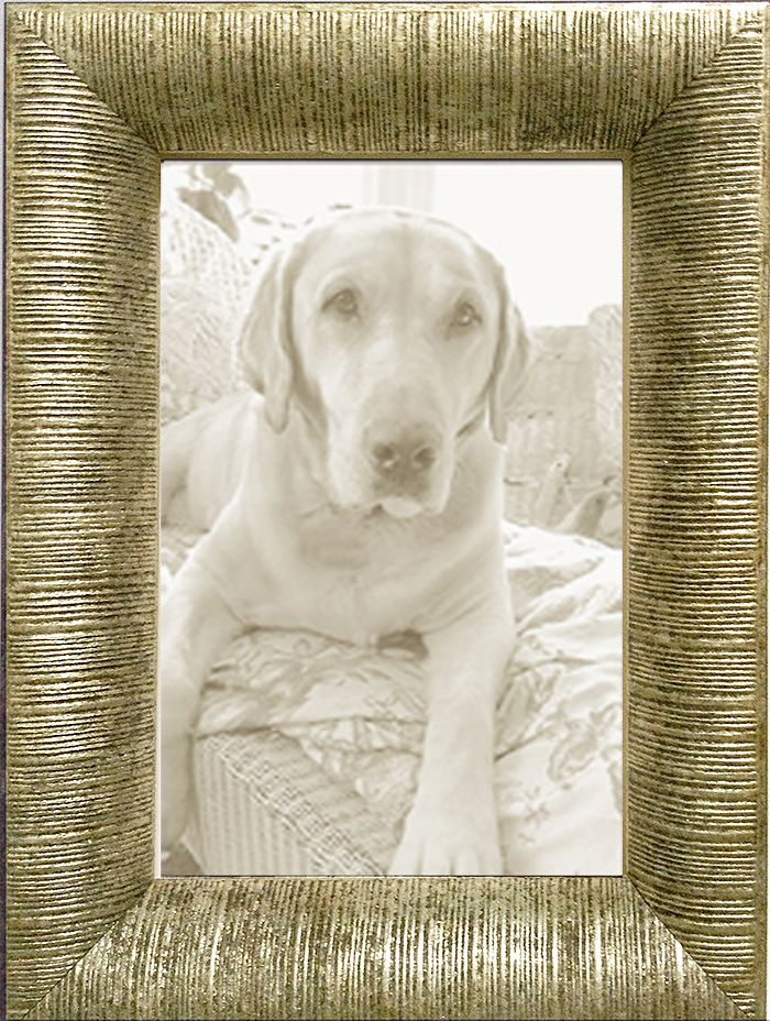 Silver Leaf Ribbed Contemporary Picture Frame made in USA by MUSEUM FACSIMILES