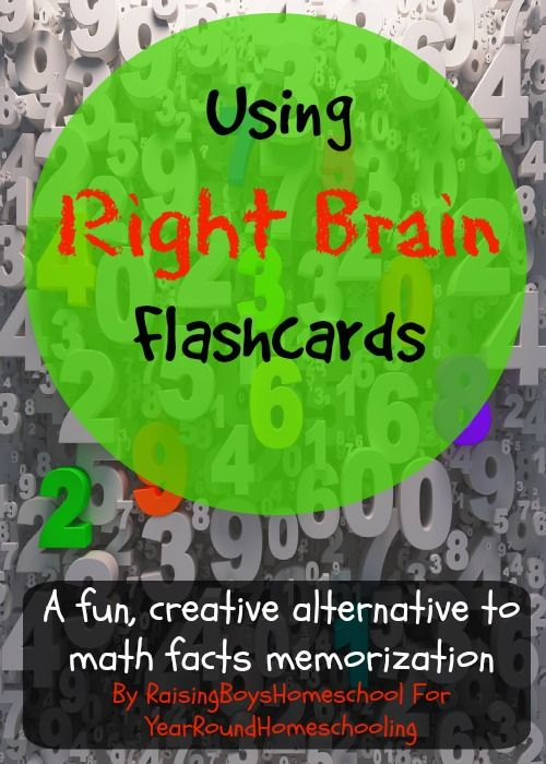 Using Right Brain Flashcards - http://www.yearroundhomeschooling.com/using-right-brain-flashcards/