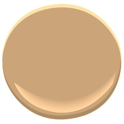 Benjamin Moore Roxbury Caramel-a warm, caramel color, in some lighting it may take on a bit of a pinky hue