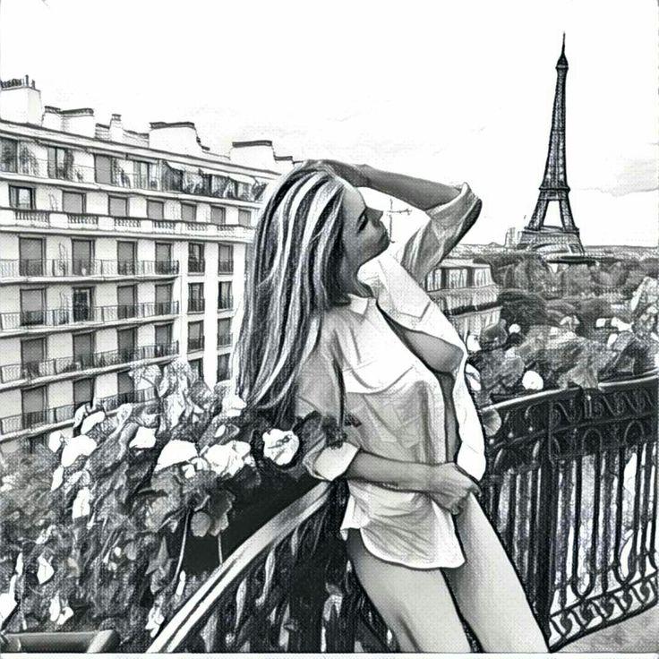 InstagramGirl #prisma #vikiodintcova #paris