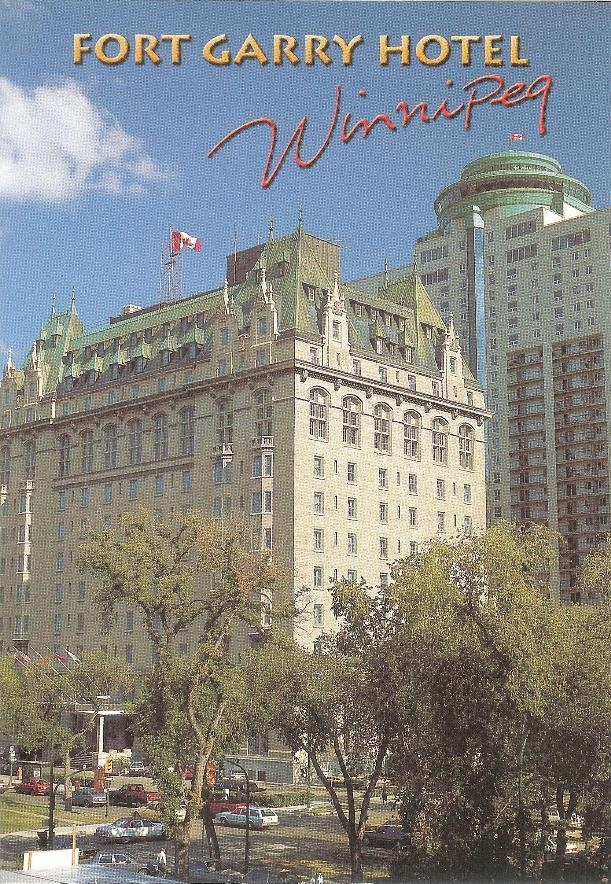 PK0828. Winnipeg. Canada.The Fort Garry Hotel, a historical landmark since 1911, is situated in downtown Winnipeg.
