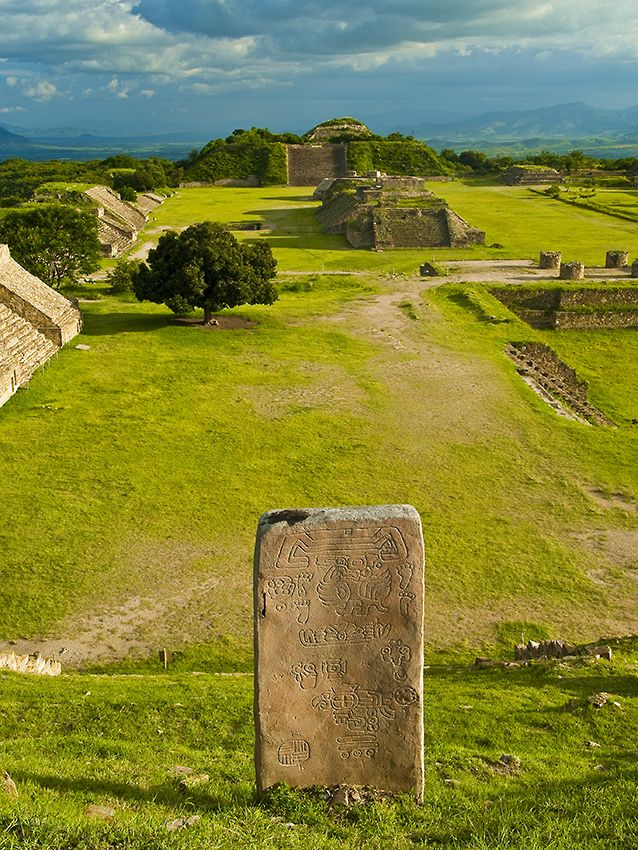 Monte Albán is a large pre-Columbian archaeological site in the southern Mexican state of Oaxaca.