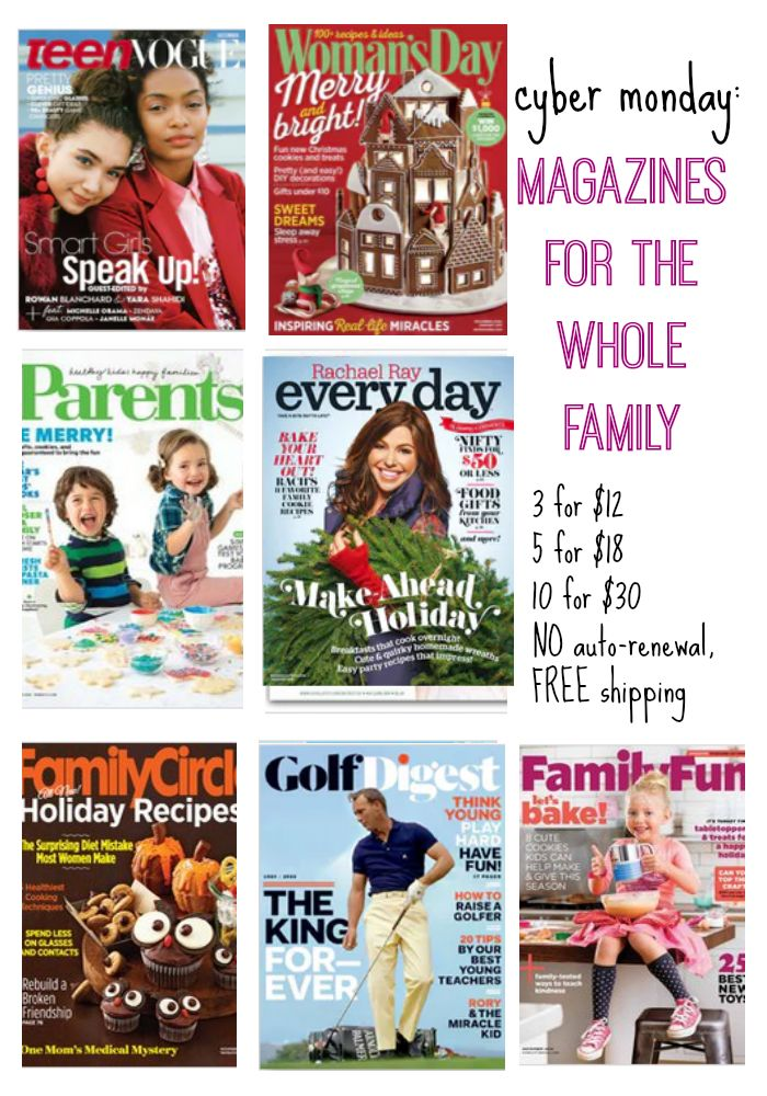 cyber monday: magazine deal for families via @teachmama