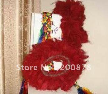 L036 Тибетский Мастиф як волос красный воротник-Kekhor, экстра-большой Zangao's Воротник, 6 слоя, самая большая собака воротник, низкое MOQ