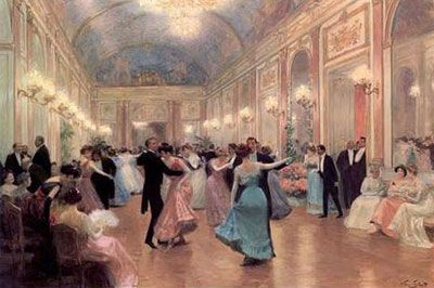 victorian ballroom | An Elegant Soiree by Victor Gilbert (1847 - 1935)