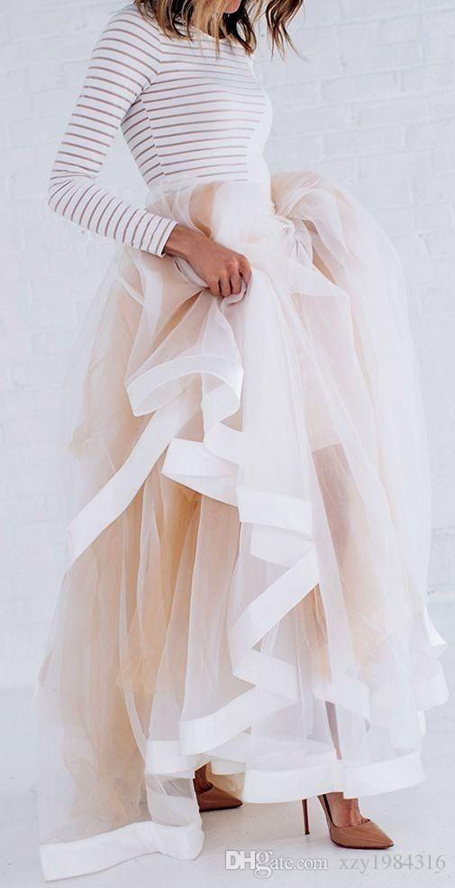 Wholesale cheap  online, satin tulle   - Find best  new design tulle maxi skirt with satin ribbon edge champagne ruffled stylish skirts for women sexy woman long winter skirts at discount prices from Chinese skirts supplier - xzy1984316 on DHgate.com.
