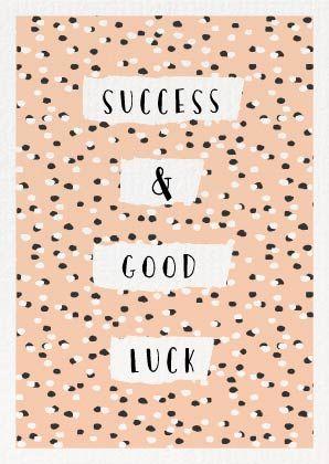 Succes & Good Luck  Mint & Mail | Moments Love Paper. Webshop voor alle momenten op papier. Wenskaarten | Trouwkaarten | Geboortekaartjes & Papierwaren.