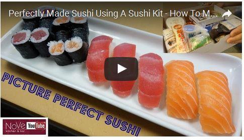 Perfectly Made Sushi Using A Sushi Kit