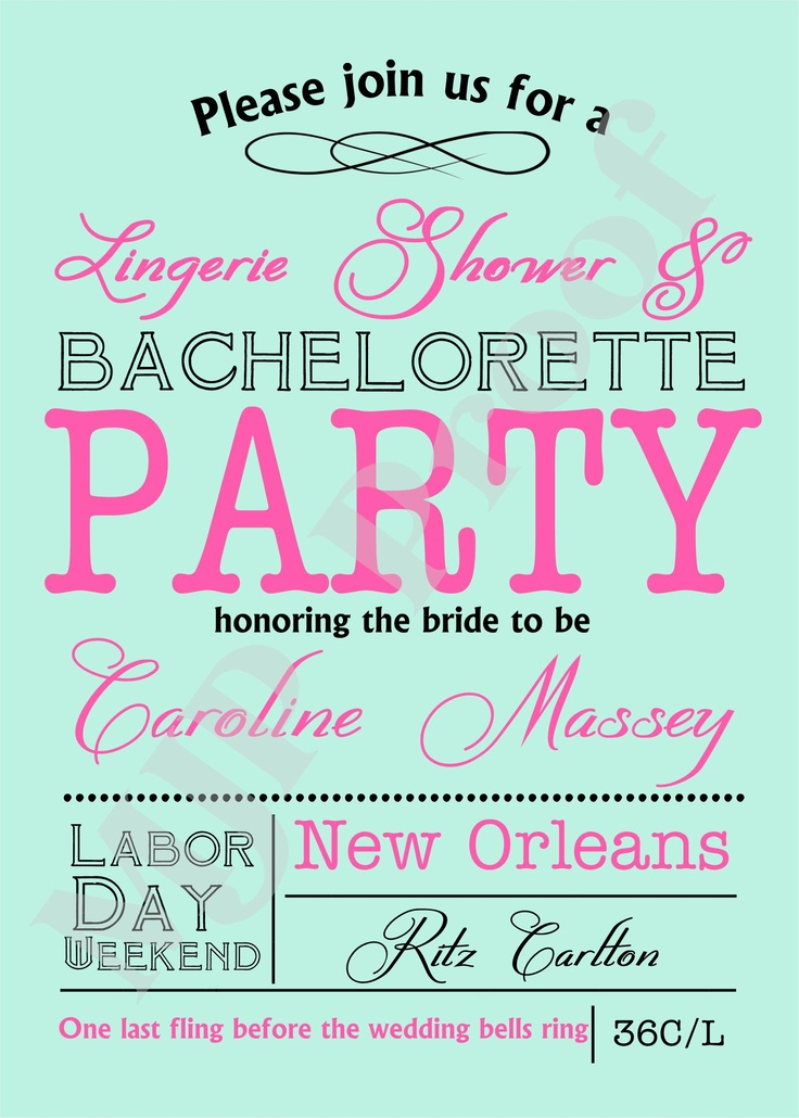 62 best BACHELORETTE PARTY images on Pinterest   Bridal showers ...