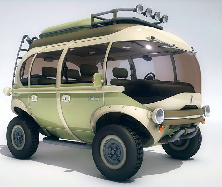 Futuristic Nimbus E-Car is a cute hybrid microbus perfect for the eco-conscious road warrior | Inhabitat - Sustainable Design Innovation, Eco Architecture, Green Building
