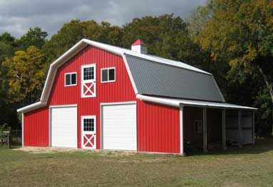 Prefabricated metal barns have a wide array of uses. These uses include being enclosures for equipment, tools, and other large items to an alternative to modular training facilities. Because of their versatility in reference to size and structure, metal buildings can be storage structures for any heavy equipment. They have a steel base that keeps them structurally sound no matter what type of equipment or tools they are housing.