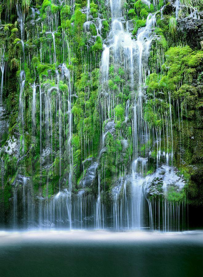 Mossbrae Falls - located in Shasta Retreat, Dunsmuir, California  (by John Qu on 500px)