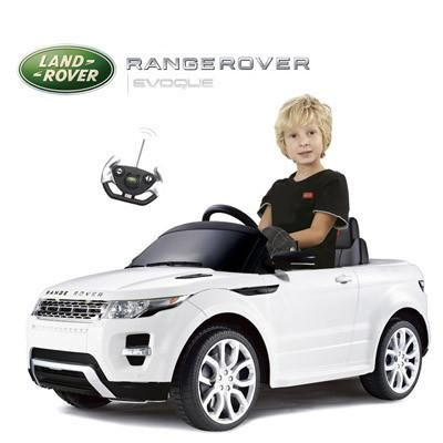 Range Rover Evoque 12 Volt Kids Electric Ride On Toy Car with Remote Control (White)