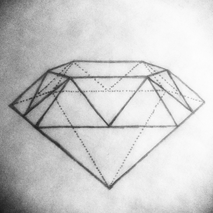 Drew this up. Want to get this #diamond #tattoo #drawing ...