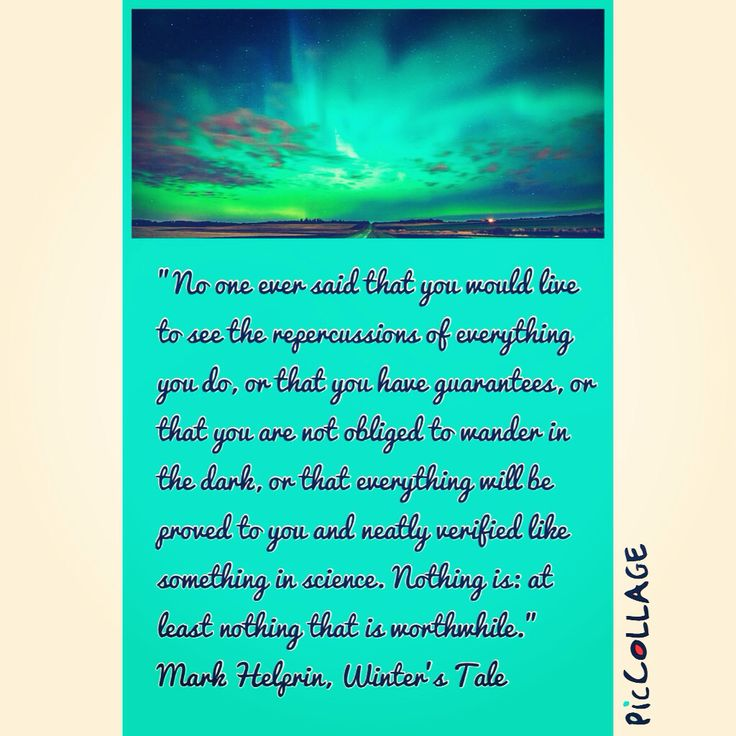 Mark Helprin - Winters Tale - Quote