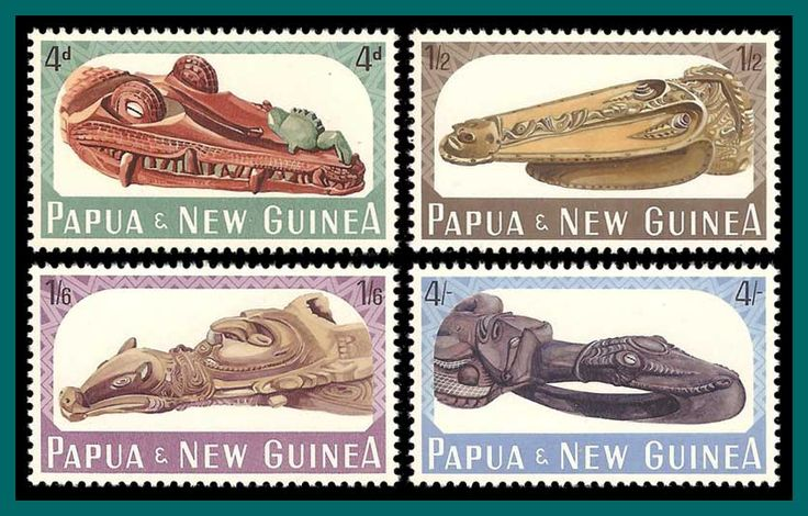 Papua New Guinea Stamps 1965 Canoe Prows, mint