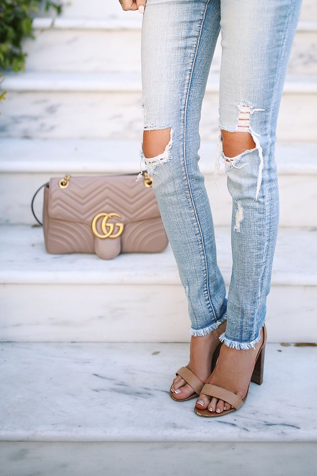 My favorite brand of ripped skinny jeans - and they're less than $60!!