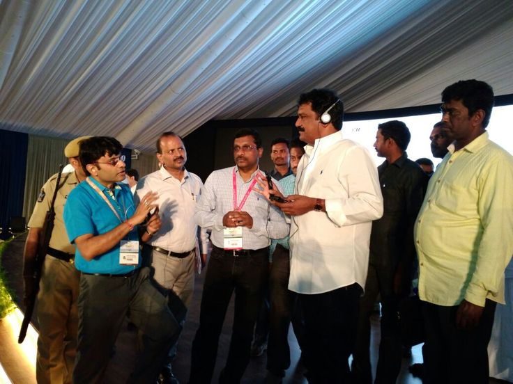"""Today, Mr. Ram Kesarwani is with HRD Minister and Principal Chief Secretary of Andhra Government, Andhra Pradesh for the program """"AP AgTech 2017 Summit"""" which is inaugurated by Vice President of India Shree VP Venkaiah Naidu"""