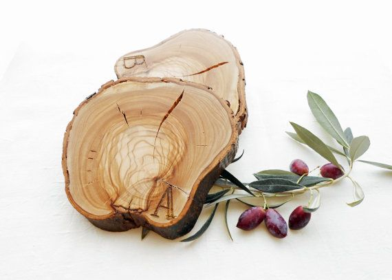 Olive Wood Coasters Rustic Wooden Coasters by BartLOVEskydesign, $10.00