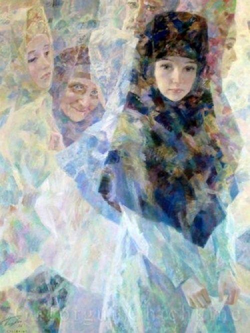 Georgy Shishkin / La ville invisible de Kitege II, 1996. The invisible city of Kitezh II