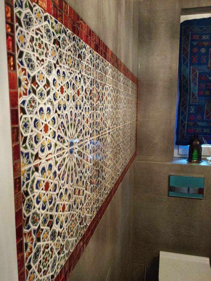 Katarzyna Gałczyńska - decor w łazience z marokańskich płytek ceramicznych MATTULLAH