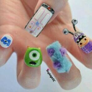 Amazing, crazy, monster inc. nails