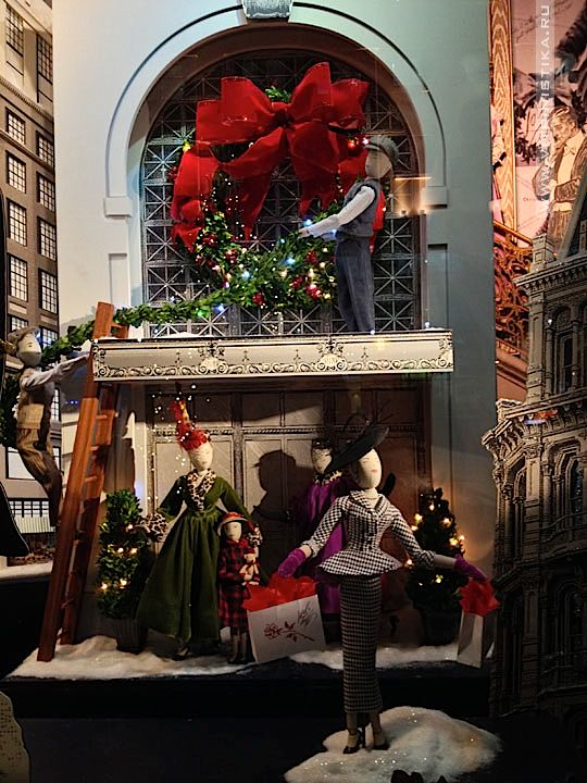 Рождественские витрины (Lord & Taylor) — Витринистика.Ру