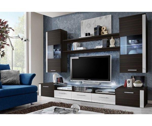 Obývacia stena FRESH spríjemní Váš obývací priestor. Skladá sa z troch TV stolíkov, pričom vrchná doska jedného stolíka je presklenná. Sklo je vyrobené z tvrdeného skla. Na stenu je potrebné zavesiť dve vitríny a police. Vyberte si z rôznych farebných kombinácií.  Parametre výrobku Typ výrobku obývacia stena FRESH, nábytokFRESH Materiál DTD Farebné prevedenie korpusu...