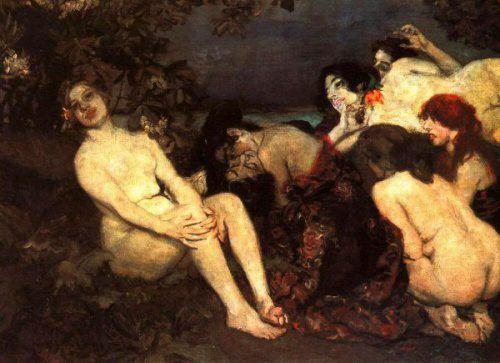 Vampires by Istvan Csok (1865 – 1961, Hungarian)