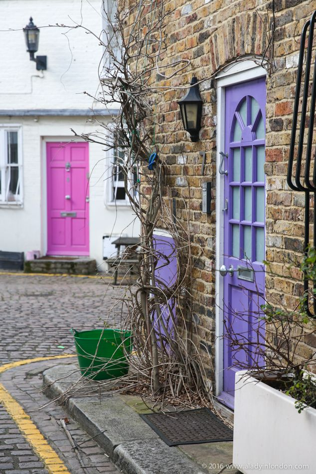 What to do in London's Ladbroke Grove. Golborne Mews and its colorful doors is a highlight.