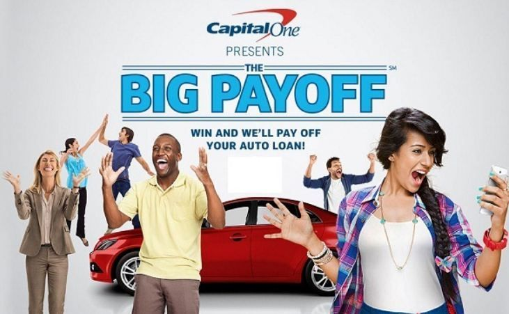 Capital One The Big Payoff Sweepstakes Car Loans Free Money Capital One