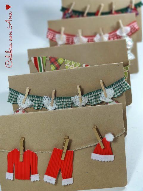 Celebra con Ana | Compartiendo experiencias creativas: ♥ Tarjetas de Navidad en Kraft