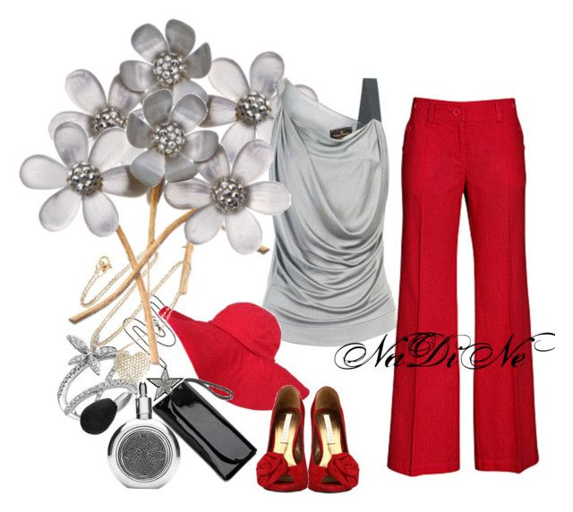 Untitled by nadinealmshhdany on Polyvore featuring polyvore Mode style Vivienne Westwood Anglomania H&M Gwyneth Shoes Red Herring Alexis Bittar Anita Ko Harrods Stefan Hafner
