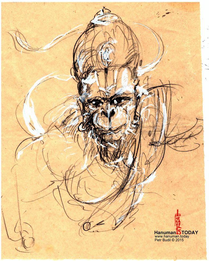 1000+ images about Hanuman - Pencil on Pinterest | Mondays ...