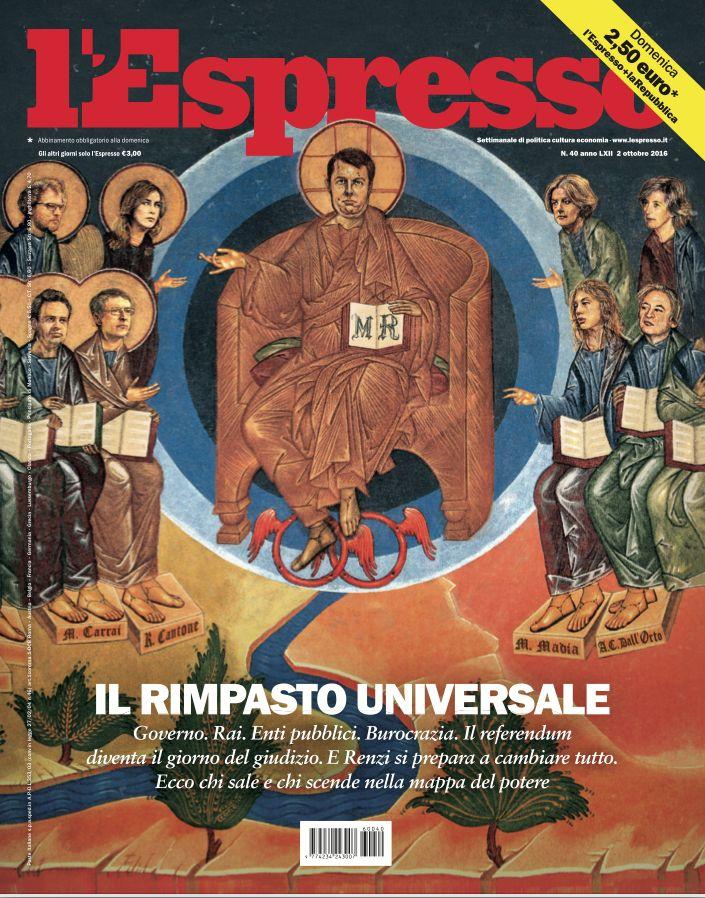 La copertina dell'Espresso in edicola domenica 1 ottobre
