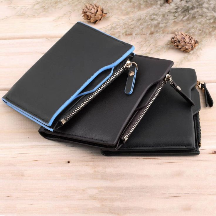 1Pcs 2016 Fashion Men Wallets Faux Leather Bifold Wallet ID Credit Card Holder Coin Purse Pockets Clutch with Zipper Wallets #Happy4Sales #YLEY