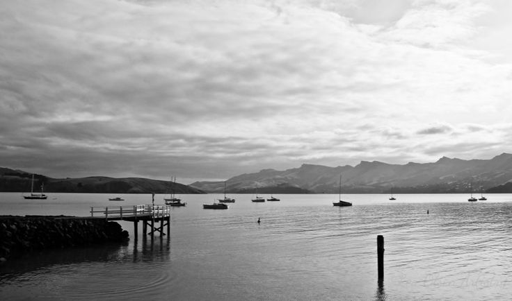 BW of Corsair Bay, Christchurch, South Island, New Zealand.  One of the most beautiful places I've ever seen.