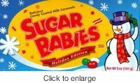 Sugar Babies Holiday Edition Christmas Candy. This are just one of many nostalgic candies that they make a holiday version.