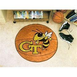 Georgia Tech GT Yellow Jackets Basketball Floor Rug Mat