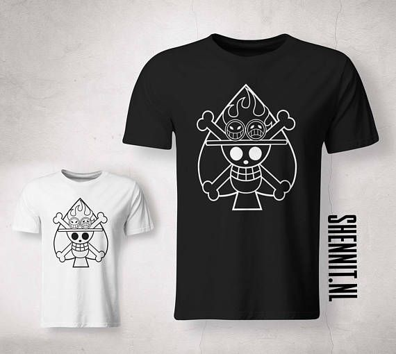 Één stuk Fan Shirt aangepaste ontwerpen UNISEX Ace Roronoa