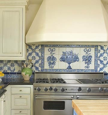 46 Best Blue White Tiled Kitchen Images On Pinterest