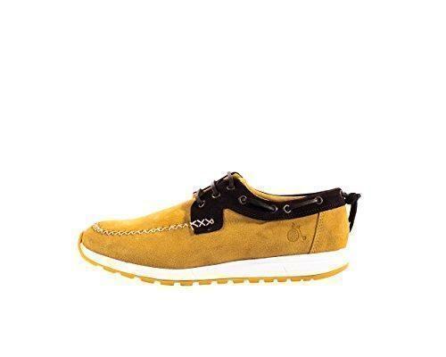 Oferta: 119.9€ Dto: -67%. Comprar Ofertas de Mondrian - Zapato/Zapatilla Casual O Informal Estilo Naútico De Piel Serraje Bicolor Con Cordones - Hombre barato. ¡Mira las ofertas!