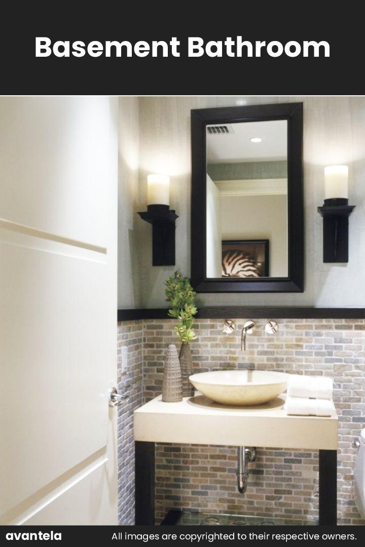 65 Basement Bathroom Ideas 2020 That You Will Love Modern Powder Rooms Powder Room Design Bathrooms Remodel
