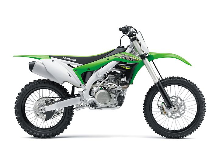 2018 Kawasaki KX450F Info: Big Green Machine    Kawasaki releases the 411 on its 2018 Kawasaki KX450F. The big green machine returns to battle for the podium in the 450cc four-stroke motocross class.